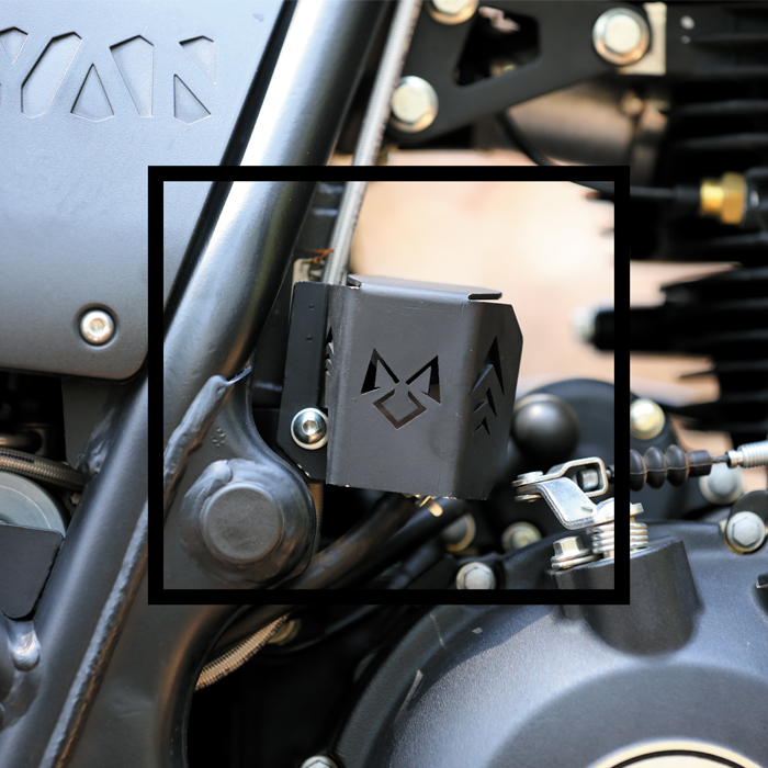 oil reservoir guard for royal enfield himalayan